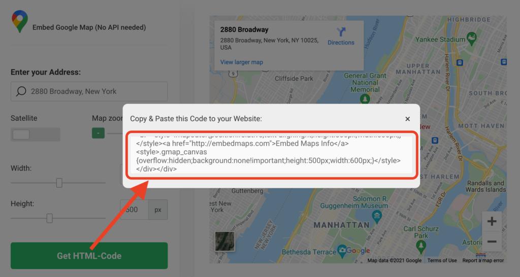Embed Google Maps iFrame